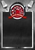 Live Music ed alimento - progettazione del menu Fotografia Stock