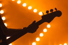 Live Music, Electric Bass Guitar Royalty Free Stock Images