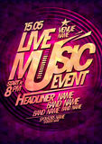 Live music event design with place for text. Stock Image