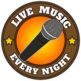Live Music Every Night Image stock
