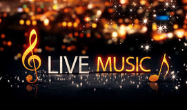 Live Music Gold Silver City Bokeh Star Shine Blue Background 3DLive Music Gold Silver City Bokeh Star Shine Yellow Background 3D. Live Music Gold Silver City Royalty Free Stock Photo