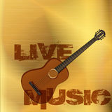 Live music guitar gold Royalty Free Stock Photos