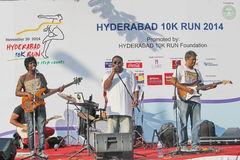 Live music at Hyderabad 10K Run Event Royalty Free Stock Photos