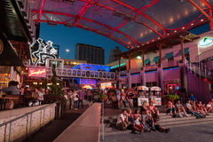 Live music at Kansas City live in the power and light district  in Kansas City Missouri. Stock Images