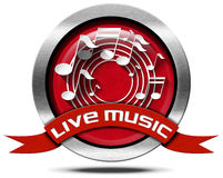 Live Music - Metal Icon Royalty Free Stock Photography