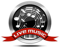Live Music - Metal Icon Royalty Free Stock Photos