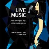 Live Music Party Advertising Poster illustration libre de droits
