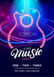 Live Music Party design template royalty free illustration