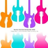 Live music poster template for concert Royalty Free Stock Photo