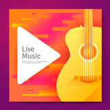 Live Music poster Royalty Free Stock Photo