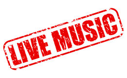 Live music red stamp text Royalty Free Stock Photography