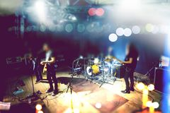 Live music and rock band on stage royalty free stock images