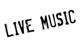 Live Music rubber stamp Royalty Free Stock Photo