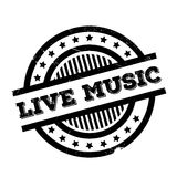 Live Music rubber stamp Stock Images