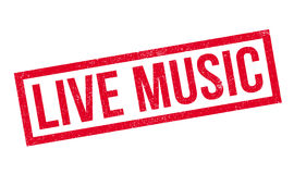 Live Music rubber stamp Royalty Free Stock Photography