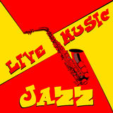Live music saxophone red and yellow Stock Photos
