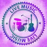Live Music Shows Track Performer und Spielen Lizenzfreies Stockbild