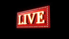 Live Music Sign vektor illustrationer