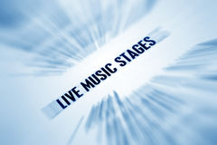 Live music  stage Royalty Free Stock Images