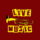 Live music trumpet Stock Photo
