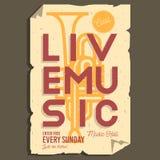 Live Music Typographic Promotion Informations-Plakat-Plan lizenzfreie abbildung