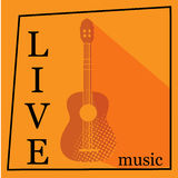 Live Music vector poster template. Stock Images