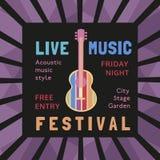 Live Musical festival Royaltyfri Foto