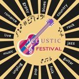 Live Musical festival Arkivfoton