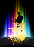 Live Musician on Abstract Spectrum Background Royalty Free Stock Photography
