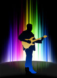 Live Musician on Abstract Spectrum Background Royalty Free Stock Photos