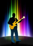 Live Musician on Abstract Spectrum Background Royalty Free Stock Photo