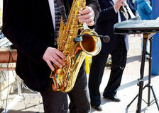 Live musicians for the audienc Stock Photography