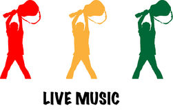 Live-Musik-Illustration Lizenzfreies Stockbild