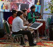 live musiker Royaltyfri Foto