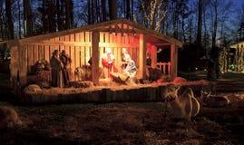 Live Nativity jul på Billy Graham Library arkivfoto