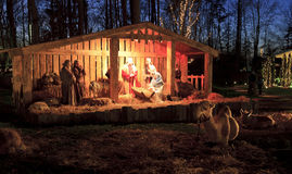 Live Nativity, Natale a Billy Graham Library Fotografia Stock