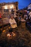 Live Nativity Scene à Zagreb Photos libres de droits