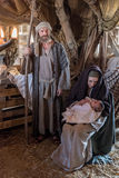 Live Nativity Scene en Gozo, Malta fotografía de archivo libre de regalías