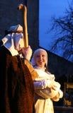 Live Nativity Scene in Zagreb Royalty Free Stock Images