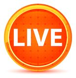 Live Natural Orange Round Button imagens de stock royalty free