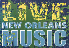 Live New Orleans Music tecken - NEW ORLEANS, LOUISIANA - APRIL 18, 2016 Arkivfoton