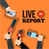 Live news concept Stock Photography