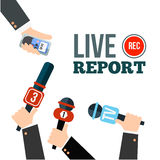 Live news concept Royalty Free Stock Image