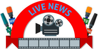 Live news Royalty Free Stock Photo