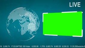 LIVE News Flash med en grön skärm royaltyfri illustrationer