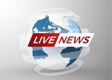 News vector background. EPS10. Live News gray background with Earth globe can be used for finance or business presentations, corporate annual report. EPS10 Royalty Free Stock Photo