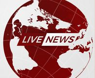 News vector background. EPS10. Live News gray background with Earth globe can be used for finance or business presentations, corporate annual report. EPS10 Royalty Free Stock Photography