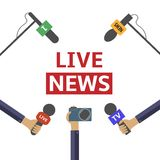 Live news Stock Photo
