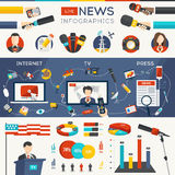 Live News Infographics Imagenes de archivo