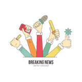 Live News Logo stock illustrationer